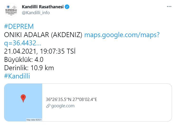 Son dakika | AFAD açıkladı! Datça açıklarında 3.9 büyüklüğünde deprem!