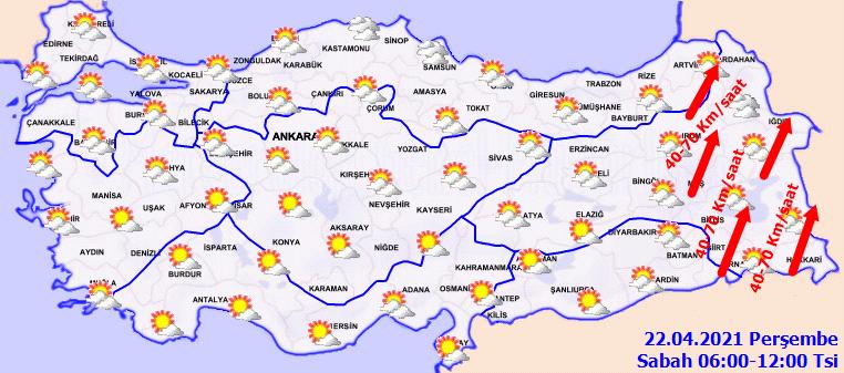 Hava sıcaklığı mevsşm normalleri üzerine çıkıyor! İşte 22 Nisan Perşembe il il, haritalı hava durumu