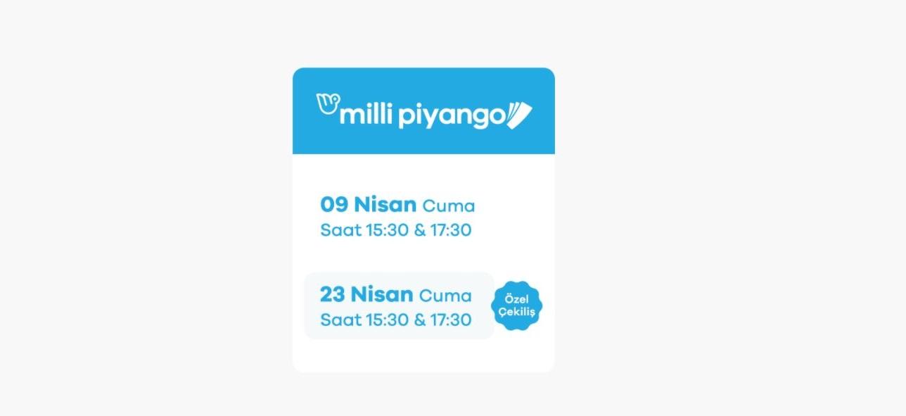 Milli Piyango 23 Nisan Özel Çekilişi saat kaçta başlayacak? 23 Nisan Milli Piyango özel çekilişinde büyük ikramiye ne kadar?