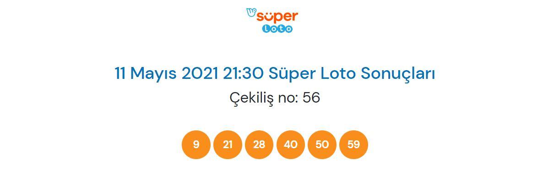 Süper Loto çekiliş sonucu sorgulama 11 Mayıs 2021 Salı