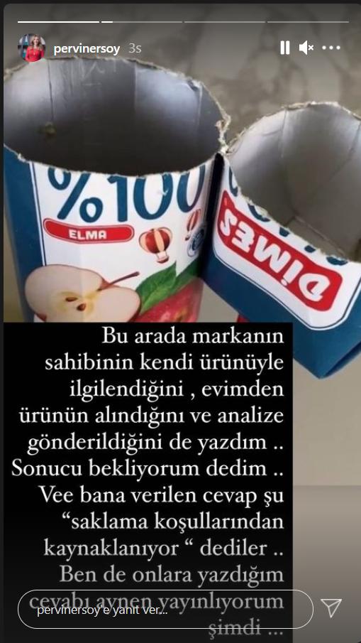 Bakan Ersoy un eşi Pervin Ersoy paylaştı Dimes Meyve Suyu kutusunun içinden çıkan şey herkesi şok etti!!