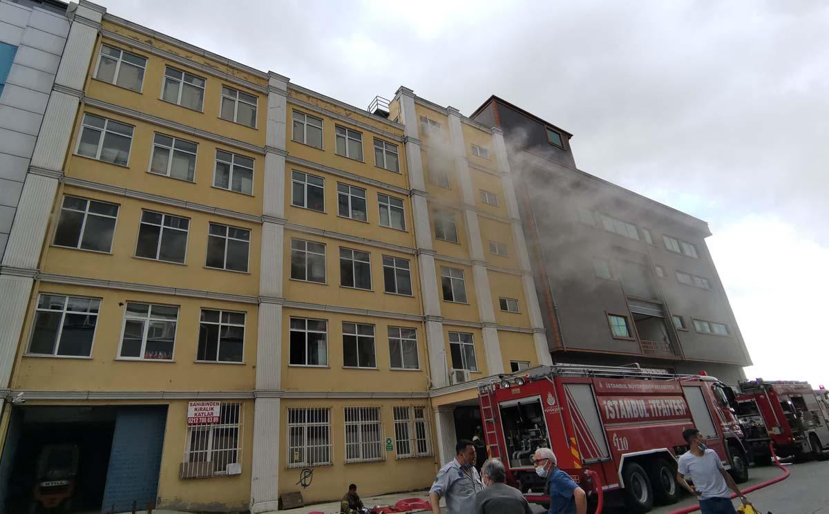 Çatalca'da korkutan yangın: Gıda imalathanesi alev aldı!