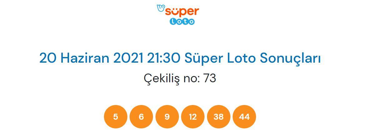 Süper Loto çekiliş sonucu sorgulama 20 Haziran 2021 Pazar