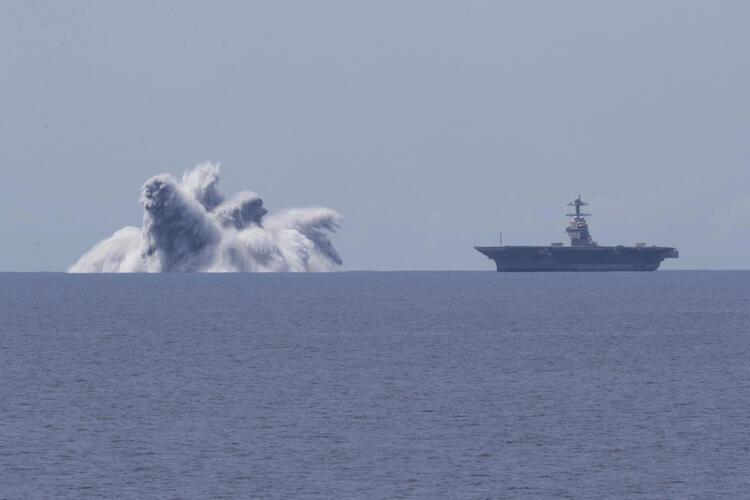 Böyle test görülmedi! Tüm dünyanın tepkisini çekti: ABD donanmasının patlayıcı testi 3.9 büyüklüğünde deprem yarattı
