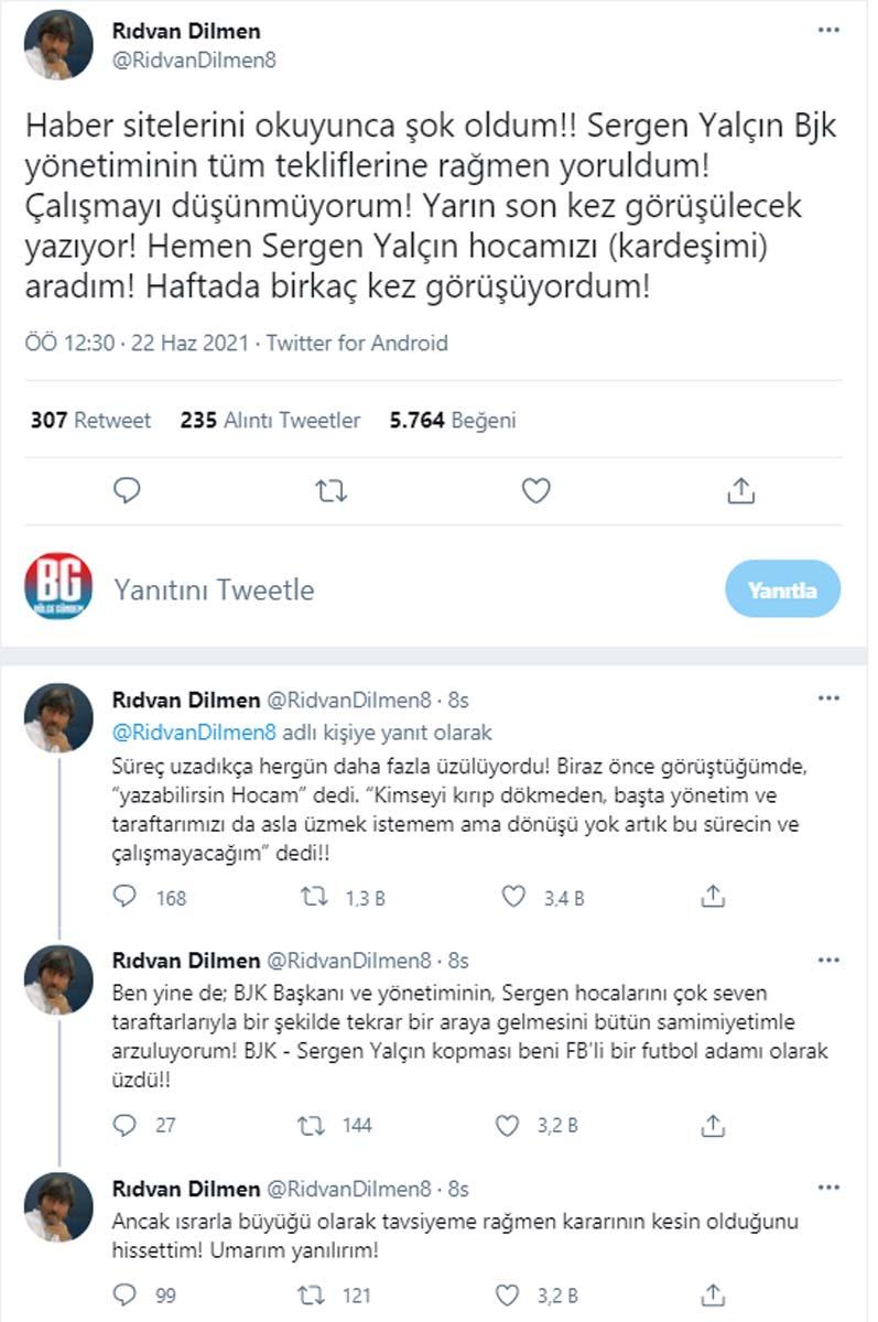 Rıdvan Dilmen yazdı! Sergen Yalçın'dan olay sözler: Dönüşü yok, çalışmayacağım