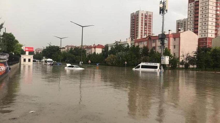 Ankara yağışlara teslim oldu! Dereler taştı, hayvanlar sele kapıldı