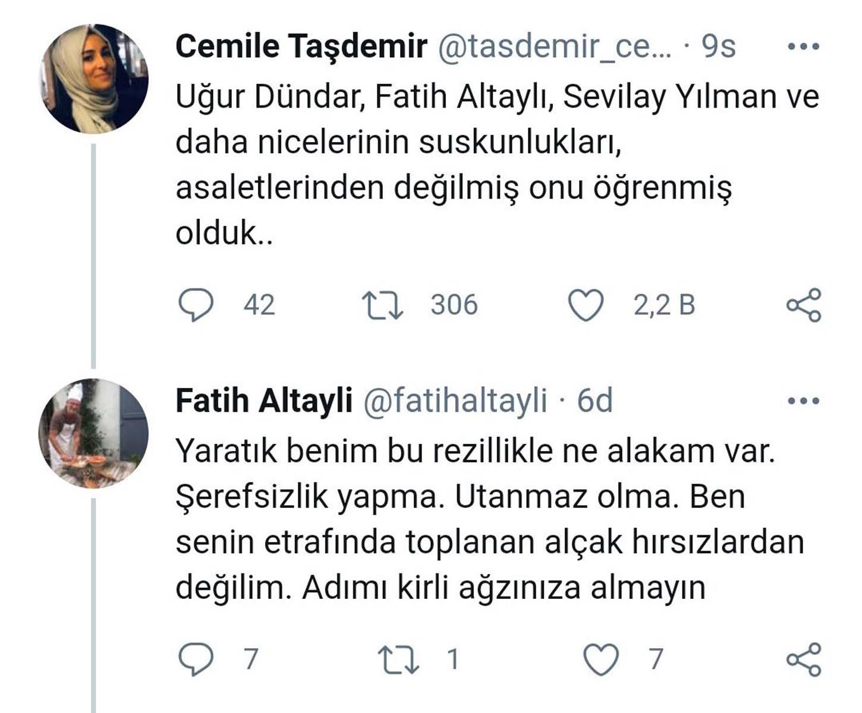 Cemil Taşdemir'in sosyal medya paylaşımı Fatih Altaylı'yı çileden çıkardı! Verdiği yanıt sosyal medyayı salladı!