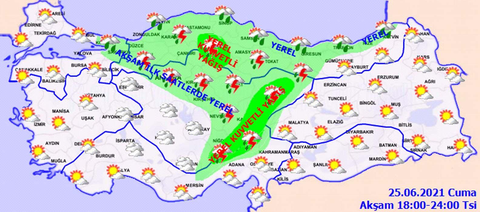 Meteoroloji'den İstanbul dahil bir çok ile sağanak uyarısı! Sel, su baskını, yıldırım düşmesi, dolu yağışı....