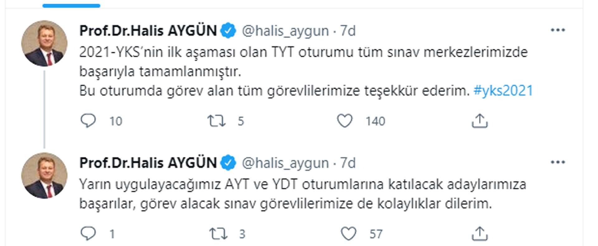 Son dakika   ÖSYM Başkanı Aygün'den YKS açıklaması: TYT oturumu başarıyla tamamlanmıştır