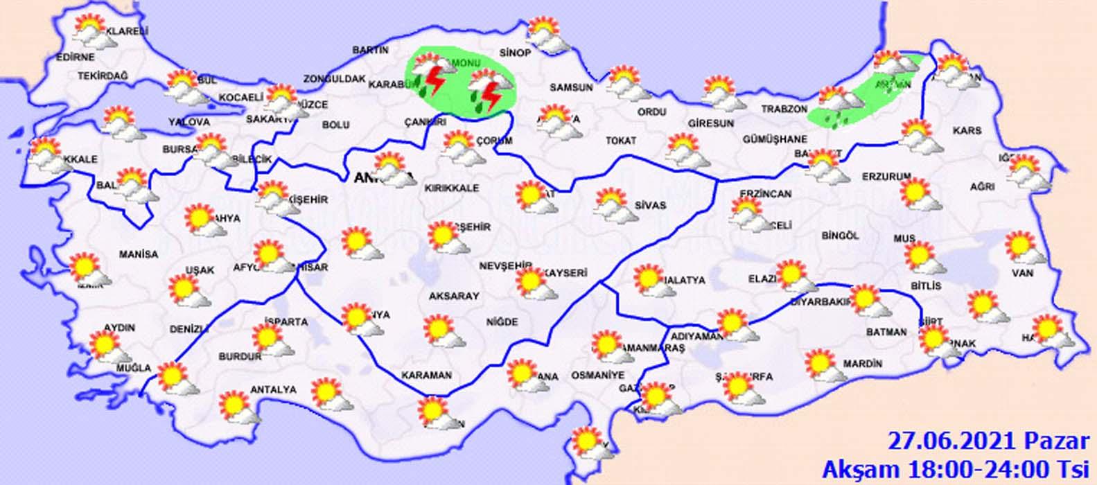 YKS adayları yola sakın şemsiyesiz çıkmayın! Meteoroloji'den İstanbul dahil bir çok il için sağanak uyarısı!