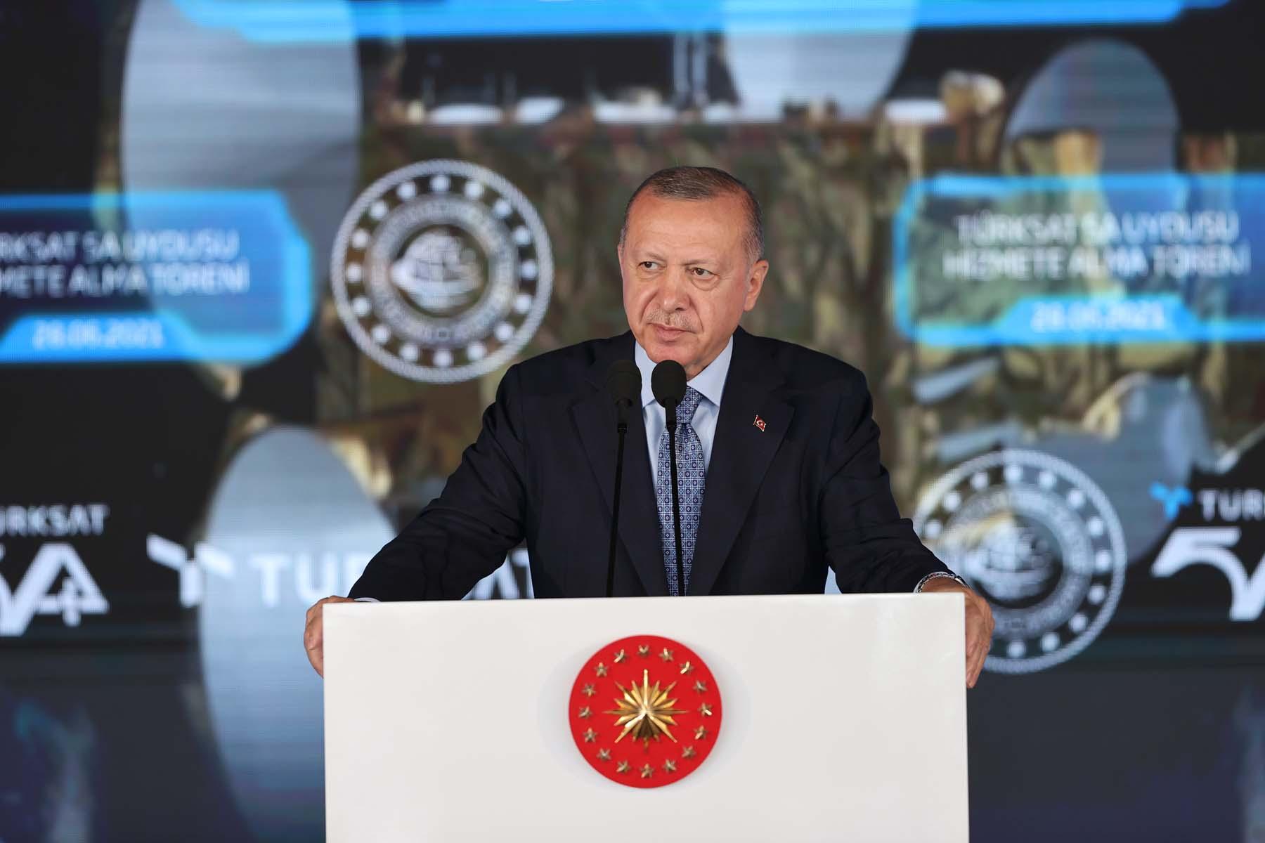 TÜRKSAT 5A uydusu göreve başladı! Cumhurbaşkanı Erdoğan dan hizmete alma töreninde önemli açıklamalar