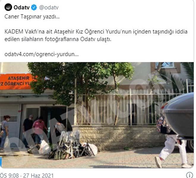 KADEM ve TRT'den 'öğrenci yurdunda çıkan silahlar' haberine ilişkin açıklama geldi