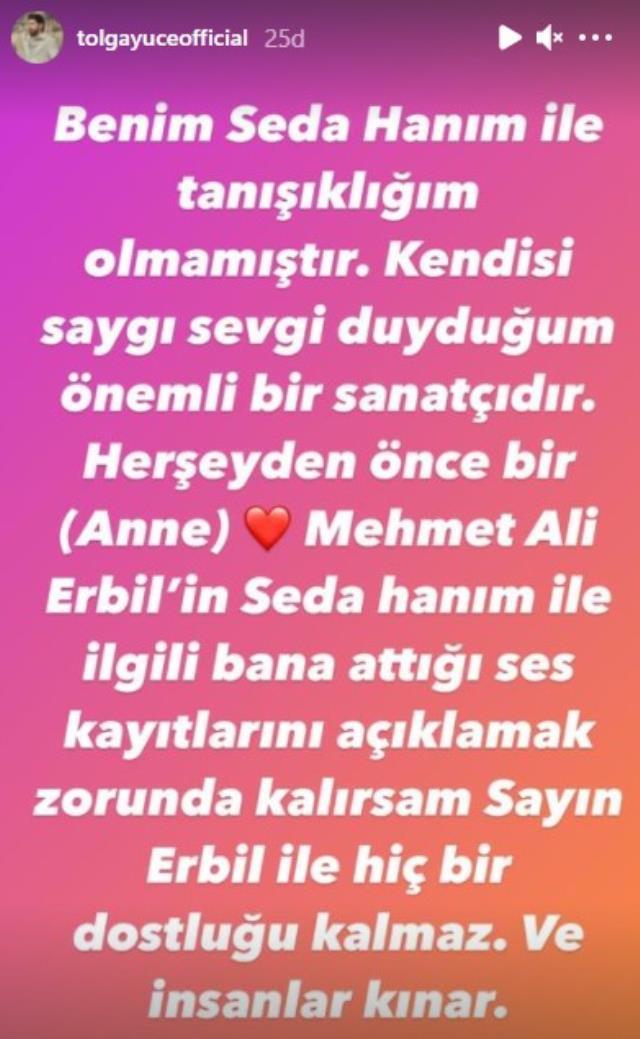 Mehmet Ali Erbil - Seda Sayan tartışmasına bir bomba daha atıldı! Ünlü şovmenin yakın dostu Tolga Yüce'nin açıklaması ortalığı alevlendirdi!