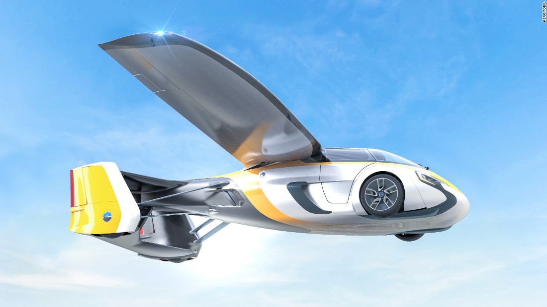 Jetgiller gerçek oldu! Slovakyada tarihi an! Uçan araba ilk şehirlerarası uçuşunu gerçekleştirdi
