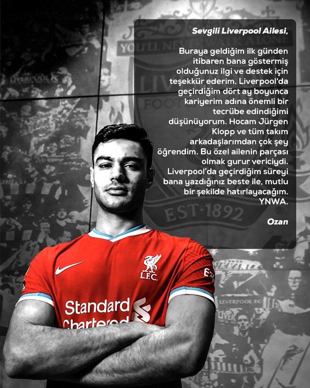 Ozan Kabak Liverpool'a veda etti