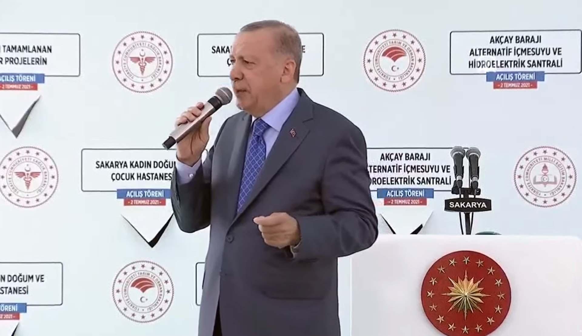 Cumhurbaşkanı Erdoğan'dan Sakarya'daki toplu açılış töreninde önemli açıklamalar