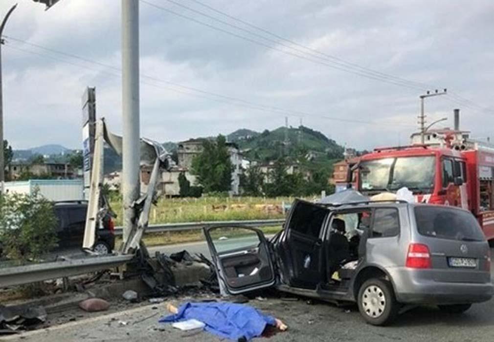 Almanya'dan Rize'ye tatile gelen aile kaza yaptı! 2 kişi öldü, 4 kişi yaralandı...