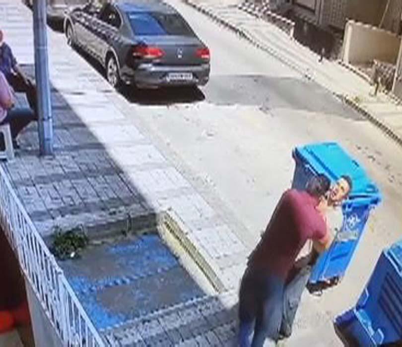 Üsküdar'da kablo hırsızına meydan dayağı! Tekme yumruklar havada uçuştu...