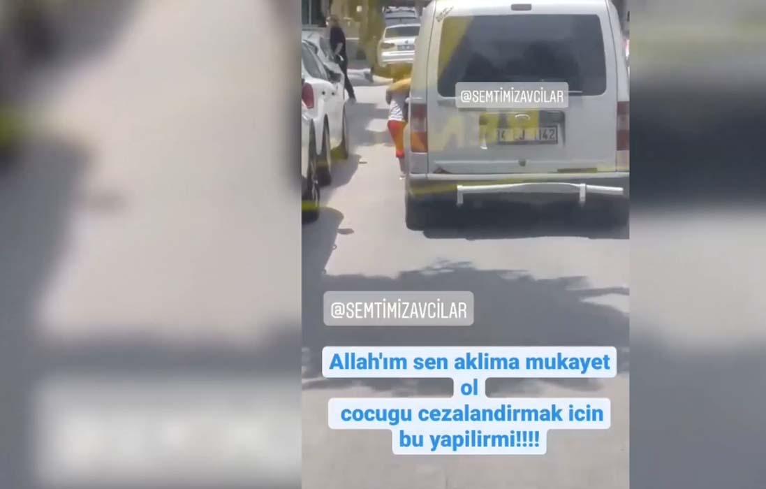 3 yaşındaki çocuğunu trafikten araçtan sarkıtan cani baba tutuklandı!