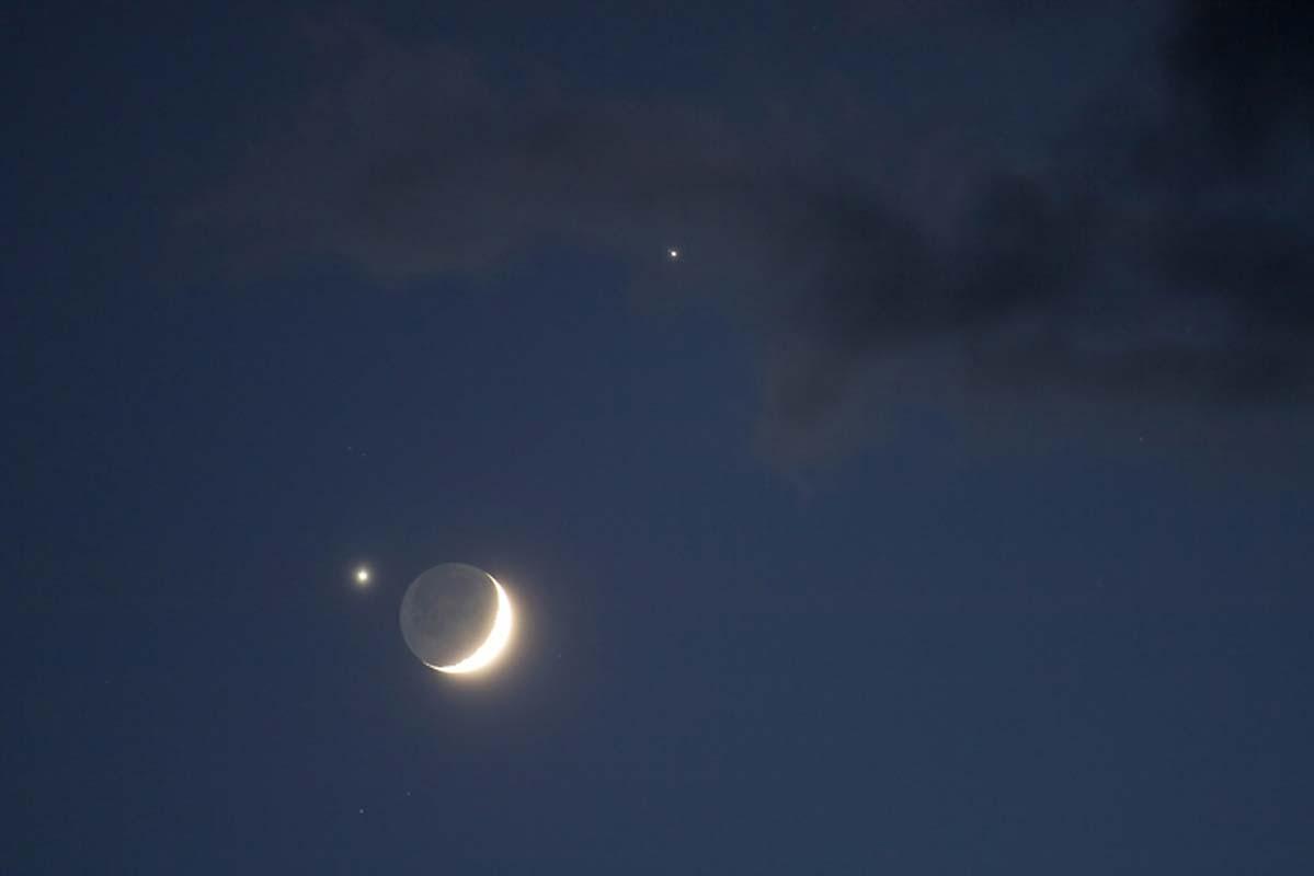 Gökyüzüne bakanlar dikkat! Venüs, Mars ve Hilal Ay önümüzdeki günlerde 'üçlü kavuşumda' hizalanacak
