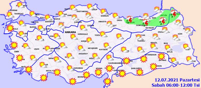Kavurucu sıcaklar geri döndü: Mevsim normallerinin üzerine çıkacak! | 12 Temmuz Pazartesi hava durumu