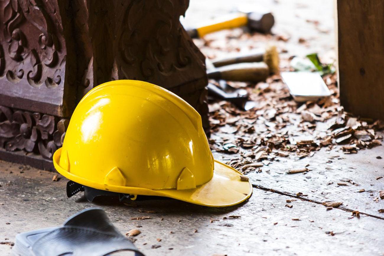 İnşaatta feci ölüm! Talihsiz işçi beton blokların altında kaldı