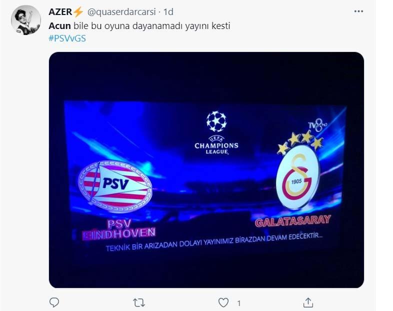 PSV - Galatasaray maçının yayını gitti | Sosyal medyada alay konusu oldu