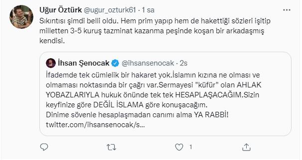 İhsan Şenocak'tan tepki çeken paylaşım!