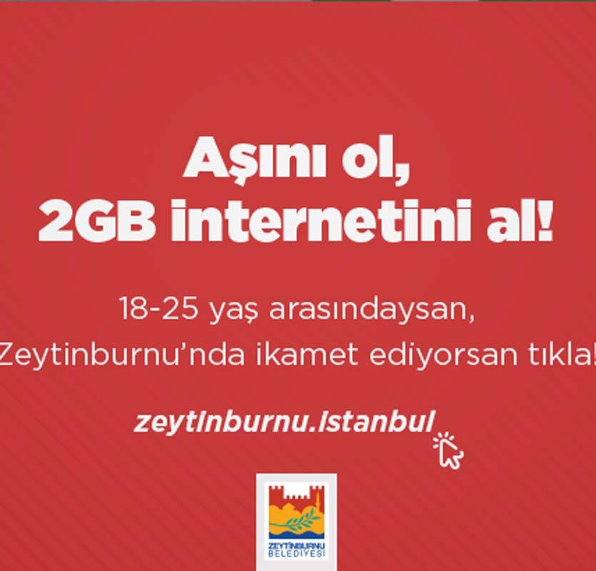 Zeytinburnu Belediyesi'nden aşı olan gençlere 2 GB internet hediyesi