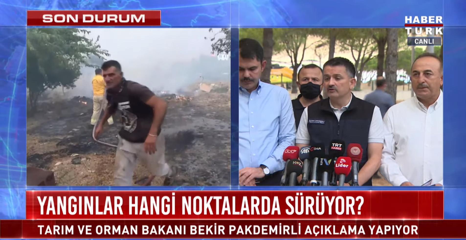 Son dakika   Orman yangınları hakkında Bakanlar Pakdemirli, Kurum ve Çavuşoğlu Antalya'da açıklamada bulundu
