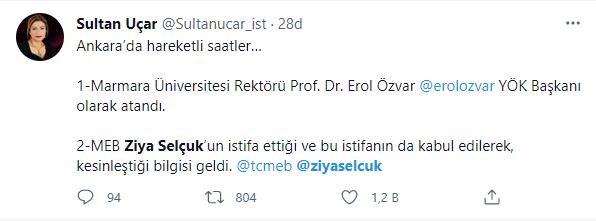 Ziya Selçuk istifa mı etti 2021 son dakika? Milli Eğitim Bakanı Ziya Selçuk o iddialara ne yanıt verdi?
