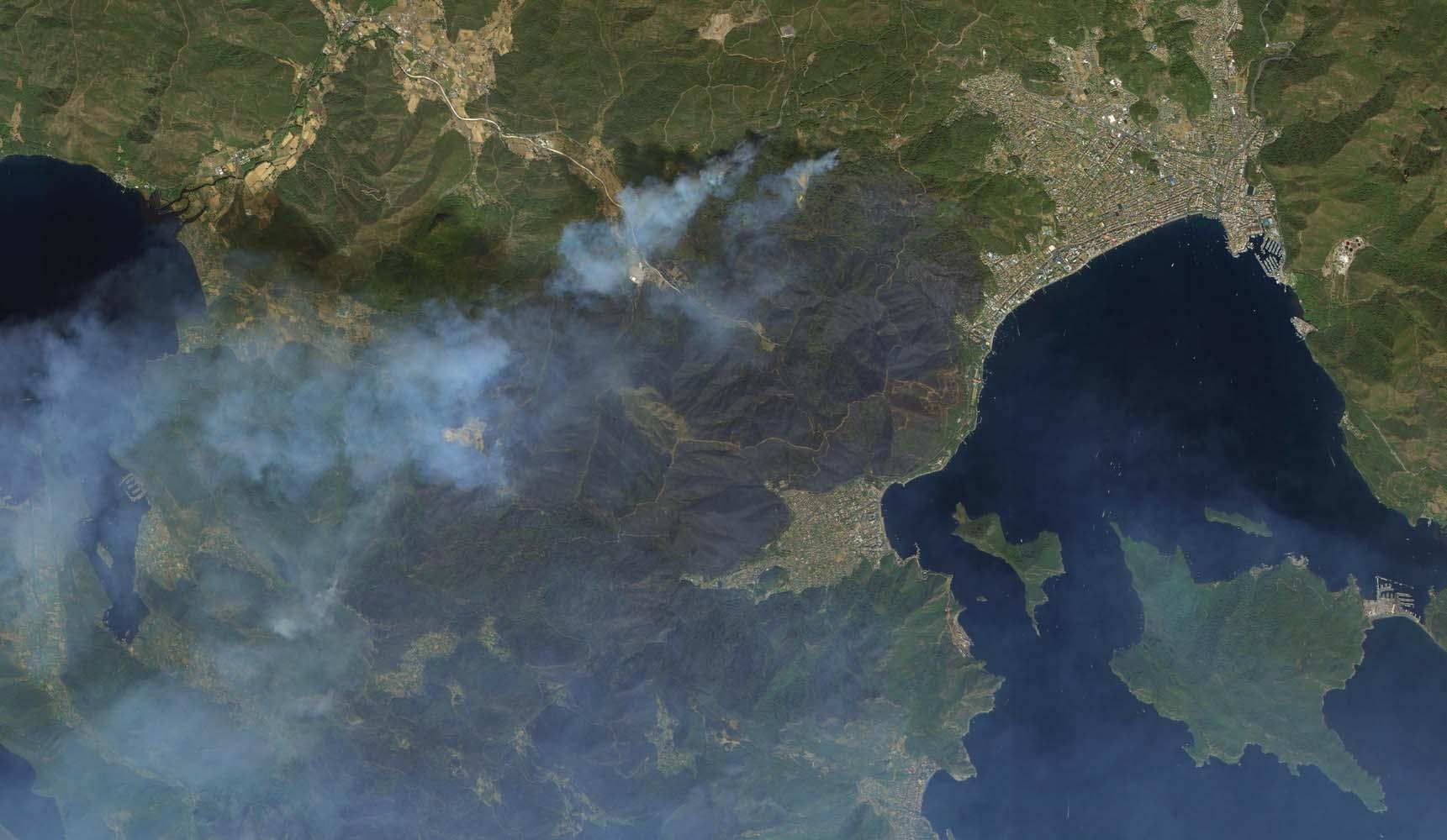 Göktürk uyduları ülkedeki yangınları uzaydan görüntüledi!