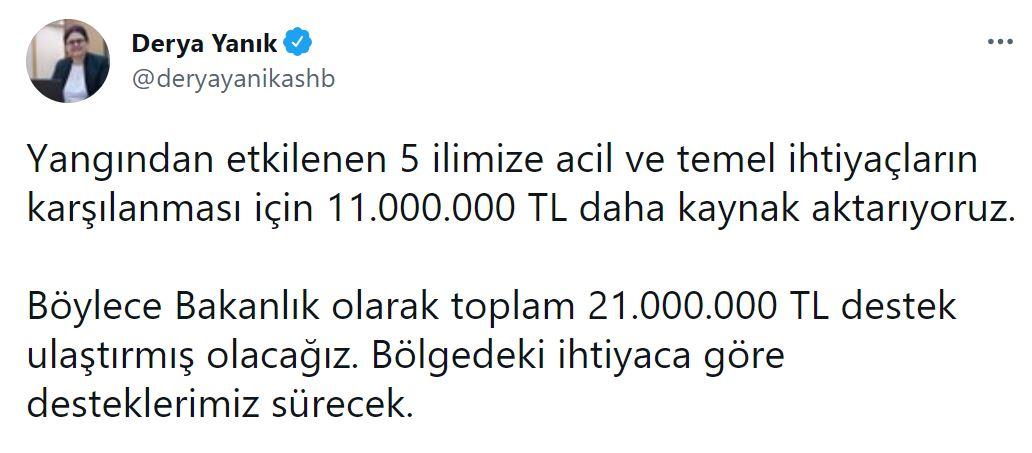 Bakan Yanık duyurdu: 11milyon TL kaynak aktarılacak