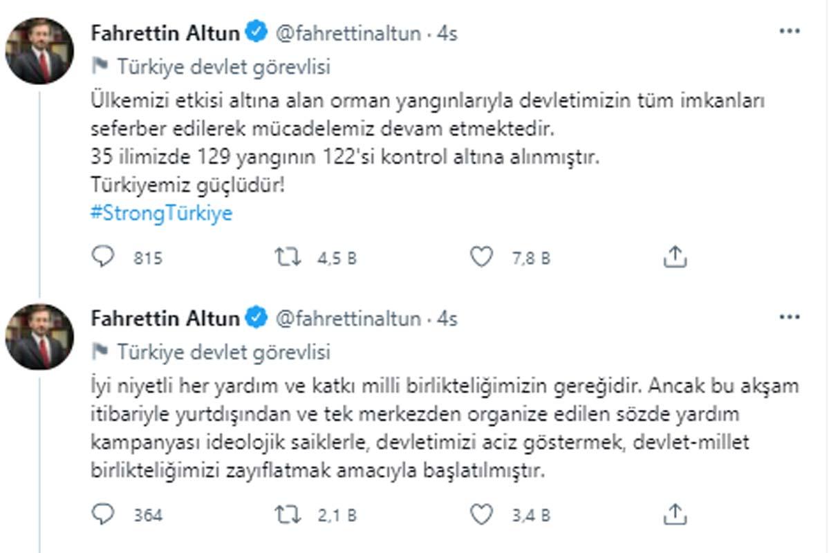 Cumhurbaşkanlığı İletişim Başkanı Fahrettin Altun'dan dikkat çeken açıklama: Tuzağa düşmeyelim