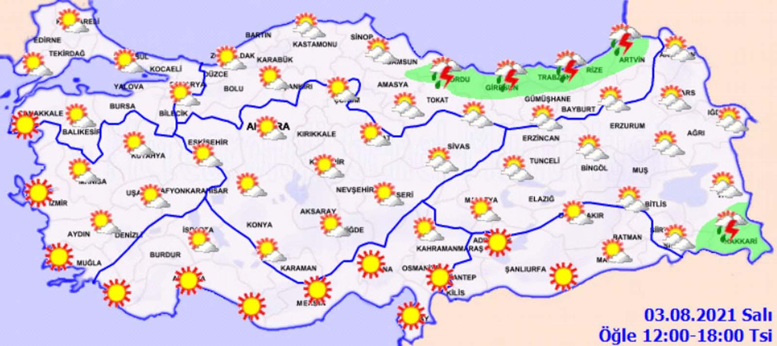 Bugün hava nasıl olacak? Kavuran sıcaklar devam ediyor! İşte 3 Ağustos Salı hava durumu...