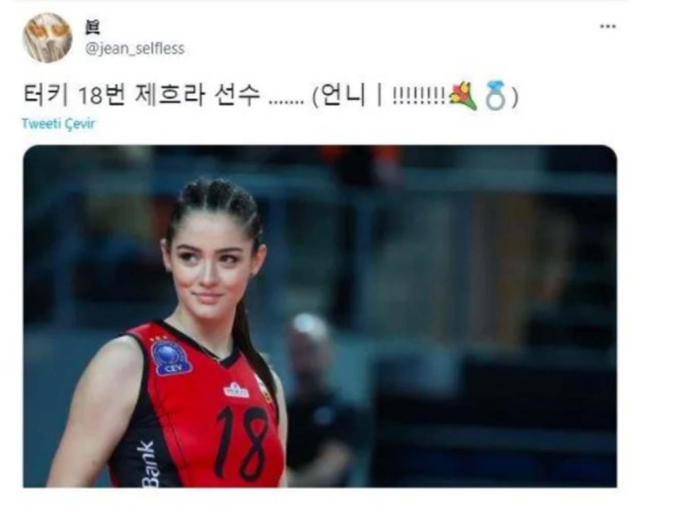 Zehra Güneş maç sonrası Korelilerin gözdesi oldu: Sonunda aşkımı buldum!