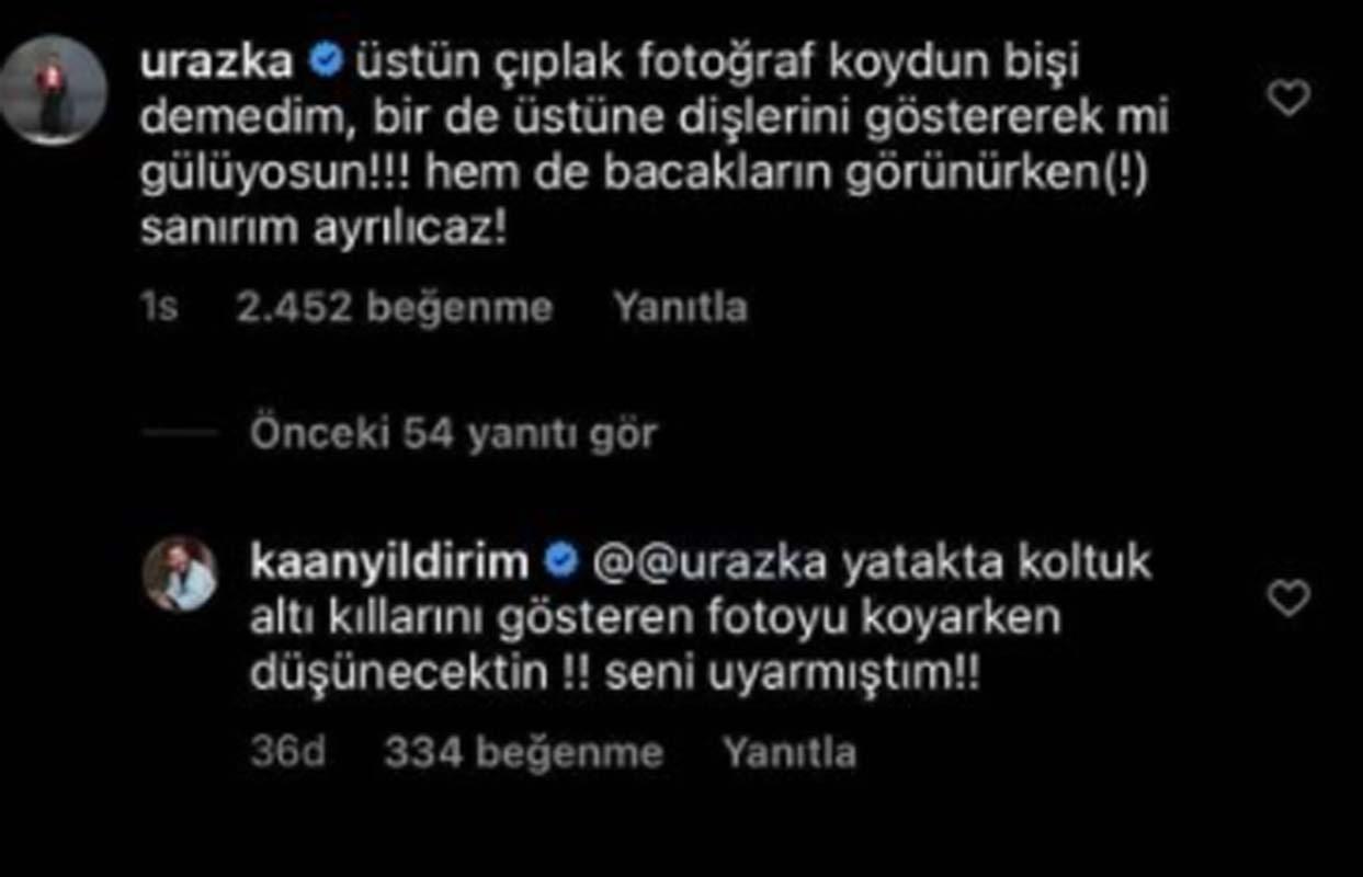 Kaan Yıldırım'ın paylaştığı fotoğrafa Uraz Kaygılaroğlu'nun yaptığı yorum damga vurdu! Sanırım ayrılacağız