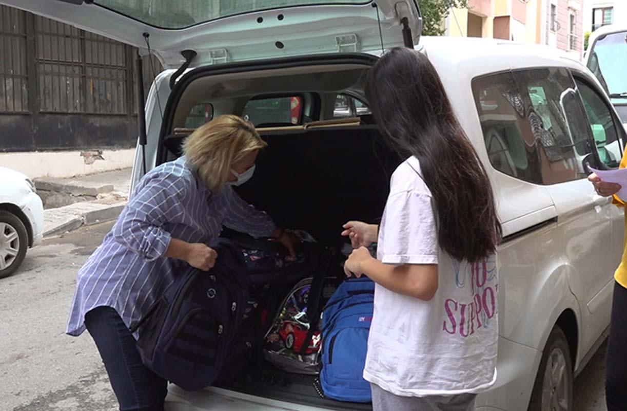 Tuzla Belediyesi Gönül Elleri Çarşısından okula hazırlıkta öğrencilere büyük destek!