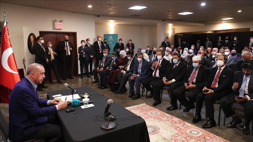 """Cumhurbaşkanı Erdoğan, Amerika'da """"İslam düşmanlığı""""na ilişkin konuşma gerçekleştirdi!"""