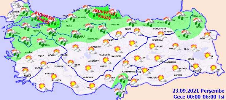 22 Eylül 2021 Bugün hava nasıl olacak? Meteoroloji uyardı: Sel, dolu ve yıldırıma dikkat!