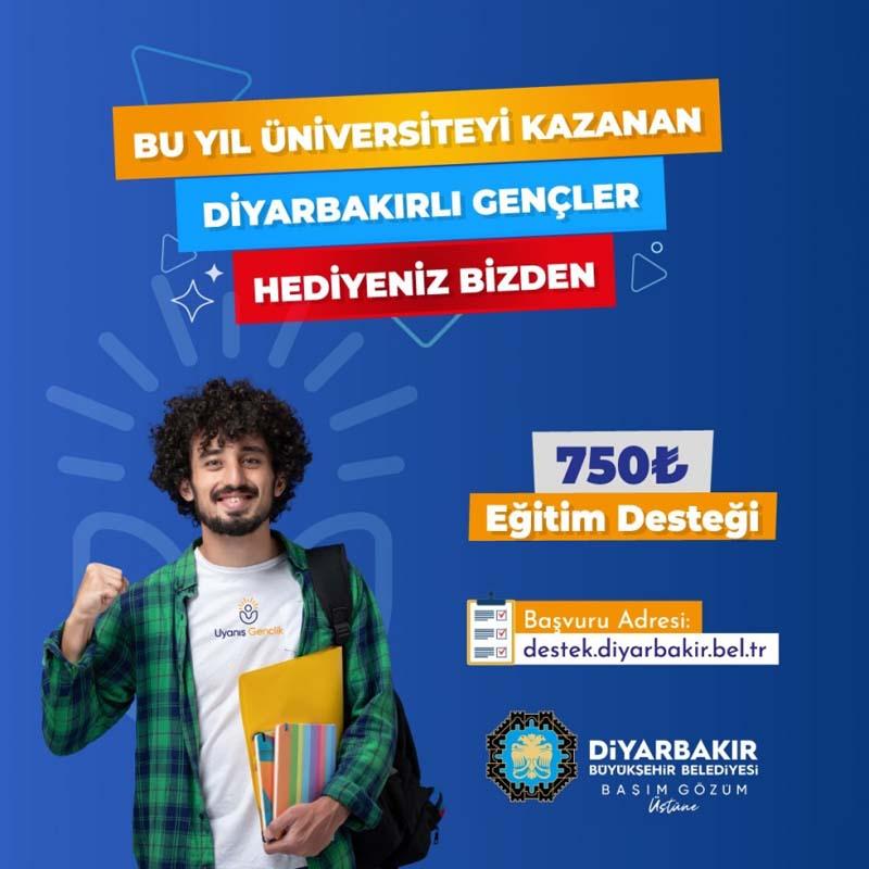 Diyarbakır Büyükşehir Belediyesi duyurdu! Üniversite öğrencilerine 750 TL destek verilecek