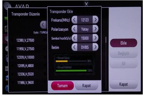 LG Smart TV Kanal Ekleme Ayarı, LG Tv Türksat Uydu Frekans Ayarlama
