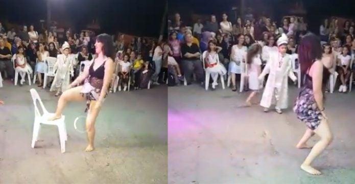 Sünnet düğününde twerk dansı yapan kadının videosu tepki çekti!