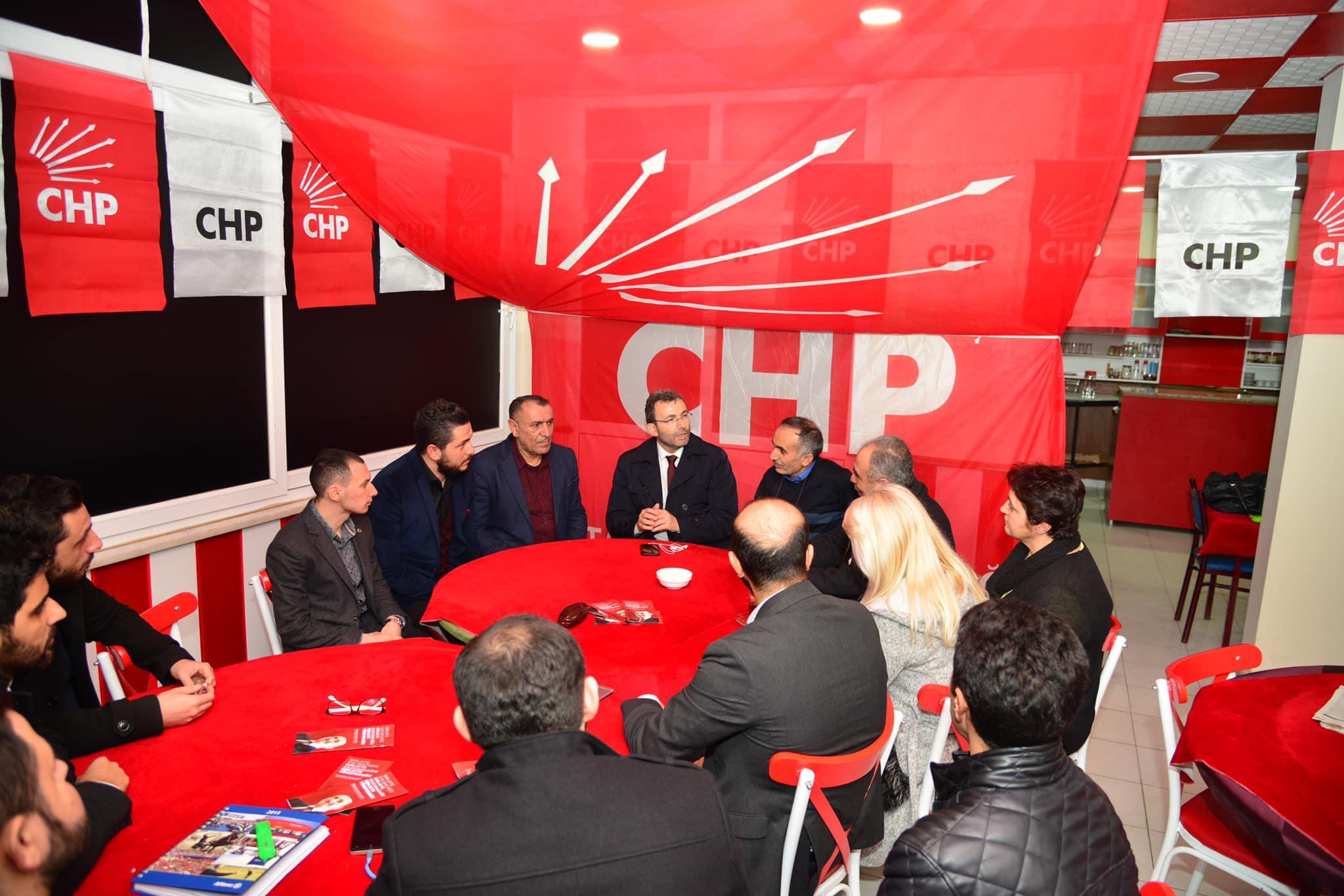 Ahmet Cin'den CHP bürosuna ziyaret