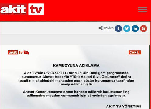 Ahmet Keser Akit Tv'den Neden Kovuldu   Hakkında Soruşturma mı Başladı