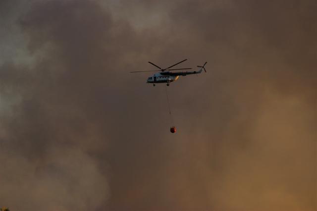 Eskişehir''deki orman yangınında söndürme çalışmaları devam ediyor