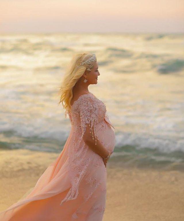 Zahide Yetiş'ten çok özel hamilelik fotoğrafları