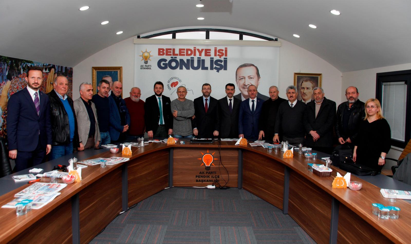 Ahmet Cin pendik'i şaha kaldıracak projelerini yerel basına anlattı