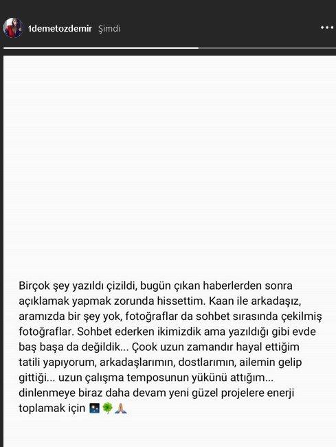 Demet Özdemir'den Kaan Yıldırım hakkında açıklama