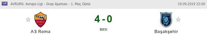 Roma Başakşehir maçı özet izle | Roma Başakşehir maç özeti